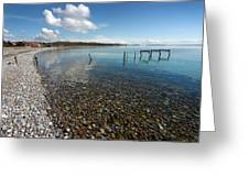Pebbled Beach Denmark Greeting Card
