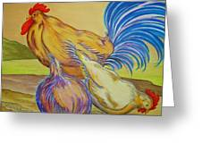 Pecking Order II Greeting Card