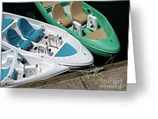 Pedal Boats Greeting Card