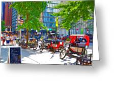 Pedal Taxis 1 Greeting Card