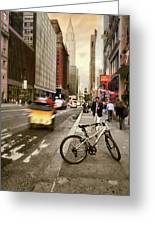 Peddle It Manhattan Greeting Card