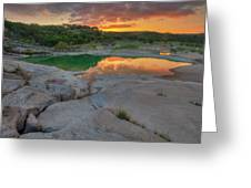 Pedernales River Sunrise, Texas Hill Country 8257 Greeting Card