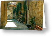 Pedestrian Walkway, Orvieto, Umbria Greeting Card