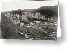 Pedro Miguel Locks, Panama Canal, 1910 Greeting Card
