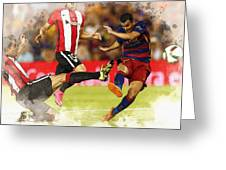 Pedro Rodriguez Kicks The Ball  Greeting Card