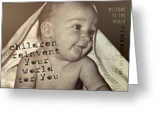 Peek A Boo Quote Greeting Card