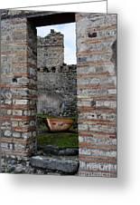 Peek Into The Past - Pompeii Greeting Card