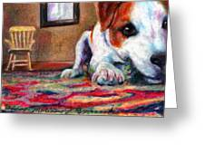 Peeking Piper Greeting Card by Melissa J Szymanski