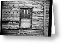 Peeling Wall And Cool Window At Fort Delaware On Film Greeting Card