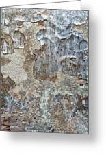 Peeling Wall. Greeting Card