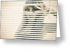 Peeping Alex Greeting Card