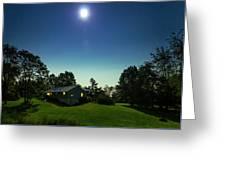 Pegasus And Moon Over The Shenandoah Valley Greeting Card