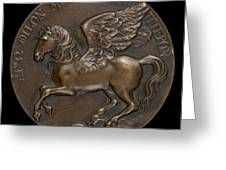 Pegasus Soaring Above Parnassus [reverse] Greeting Card