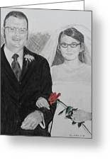 Peggy And John Taylor Wedding Portrait Greeting Card