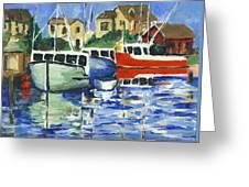 Peggys Cove 3 Fisherman Greeting Card