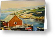 Peggys Cove  Harbor View Greeting Card