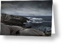 Peggys Cove Impending Storm Greeting Card