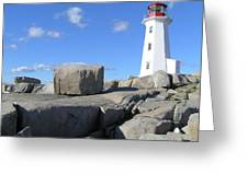 Peggys Cove Light House Greeting Card