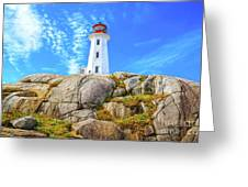 Peggy's Cove Light House Greeting Card