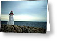Peggy's Cove Lighthouse - Photographers Collection Greeting Card