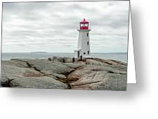 Peggys Cove Lighthouse 2 Greeting Card