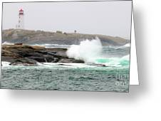 Peggys Cove Lighthouse 6127 Greeting Card