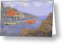 Peggy's Cove Lobster Pots Greeting Card
