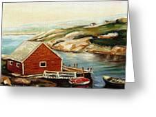 Peggys Cove Nova Scotia Landmark Greeting Card