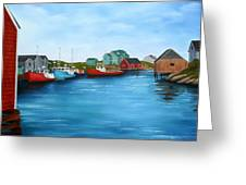 Peggys Cove Nova Scotia Greeting Card
