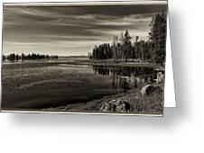 Pelican Bay Morning - Yellowstone Greeting Card