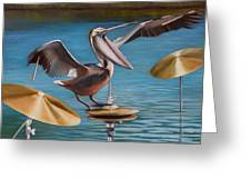 Pelican Crash Greeting Card