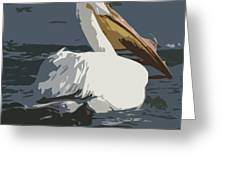 Pelican Cut Out Greeting Card