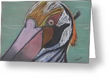 Pelican Face Greeting Card