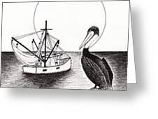 Pelican Fishing Paradise C1 Greeting Card