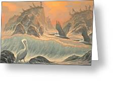 Pelican Paradise Greeting Card by Marte Thompson