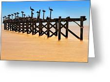 Pelican Pier Near Pass Christian - Mississippi Greeting Card