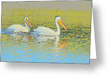 Pelican Plus One Greeting Card
