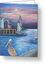 Pelican Port Greeting Card