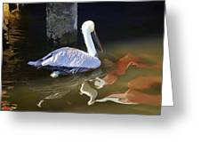 Pelican Swim II Greeting Card