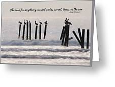 Pelicans Perched Quote Greeting Card