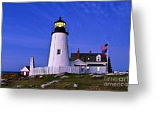 Pemaquid Point Lighthouse Maine Greeting Card
