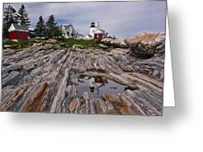 Pemaquid Reflections Greeting Card by M S McKenzie