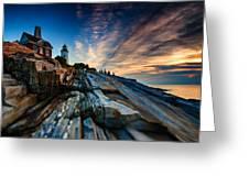 Pemaquid Sunrise Greeting Card