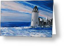 Pemaquid Winter Light Greeting Card