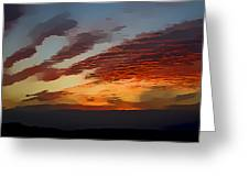 Pembrokeshire Sunset Greeting Card