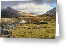 Pen Yr Ole Wen And Tryfan Mountain Greeting Card