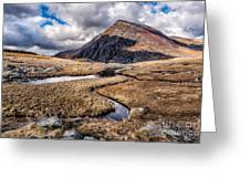 Pen Yr Ole Wen Mountain Greeting Card