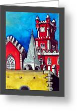 Pena Palace In Portugal Greeting Card
