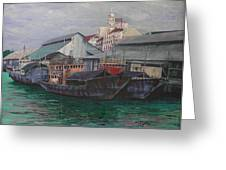Penang Jetty Greeting Card