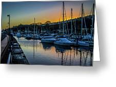 Penarth Harbour In Wales Greeting Card